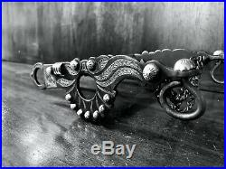 Vintage Sterling Silver Inlay Santa Barbara Garcia Spade Show Bit Maker Marked