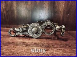Vintage Sterling Silver Inlay Santa Barbara Spade Columbia Cheek Maker Marked