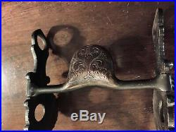 Vintage Sterling Silver Inlay Santa Barbara Tear Drop Show Bit Maker Marked