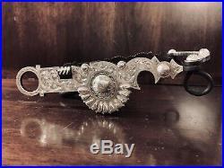 Vintage Sterling Silver Overlay Custom Santa Barbara Teardrop Show Bit Marked