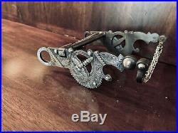 Vintage Sterling Silver Overlay Santa Barbara Cheek Dragonfly Bit Maker Marked