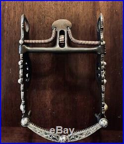 Vintage Sterling Silver Overlay Santa Barbara Daisy Motif Show Bit Maker Marked