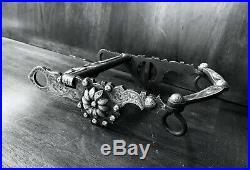 Vintage Sterling Silver Overlay Santa Barbara Show Bit Daisy Motif Maker Marked