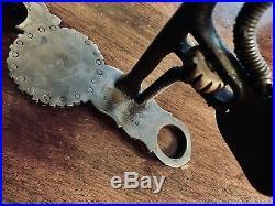 Vintage Sterling Silver Overlay Santa Barbara Vogt's Spade Show Bit Maker Marked