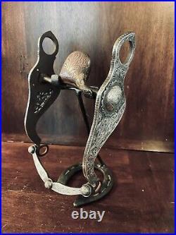 Vintage Sterling Silver Overlay Santa Maria Cheek Garcia Show Bit Maker Marked
