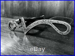 Vintage Sterling Silver Overlay Show Bit Swivel 7 Cheek Monalisa Mp M. Marked