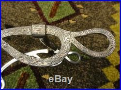 Vintage Vogt Western Bit Star Marked Engraved Sterling Silver Overlay