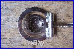 Vtg Filigree Sterling Silver Overlay 5 3/4 D-Ring Show Snaffle Bit FE Marked